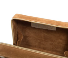 Load image into Gallery viewer, This sustainable Brown & White Suede Box Bag is perfect for the summer.