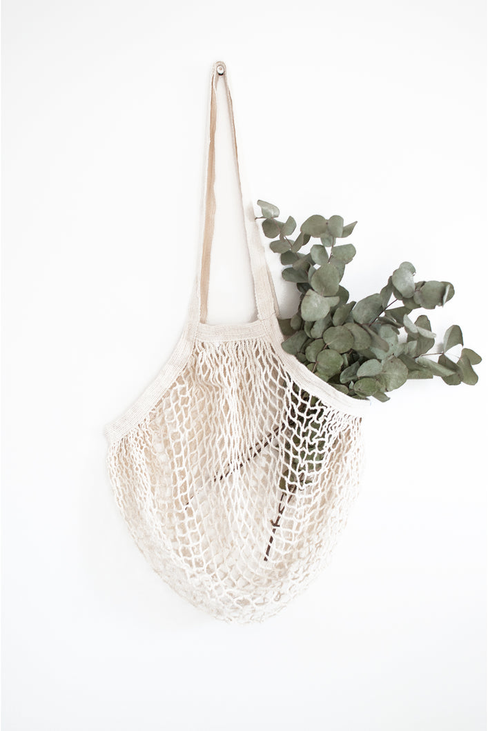 plastic free shopping organic cotton string bag for supermarket shopping
