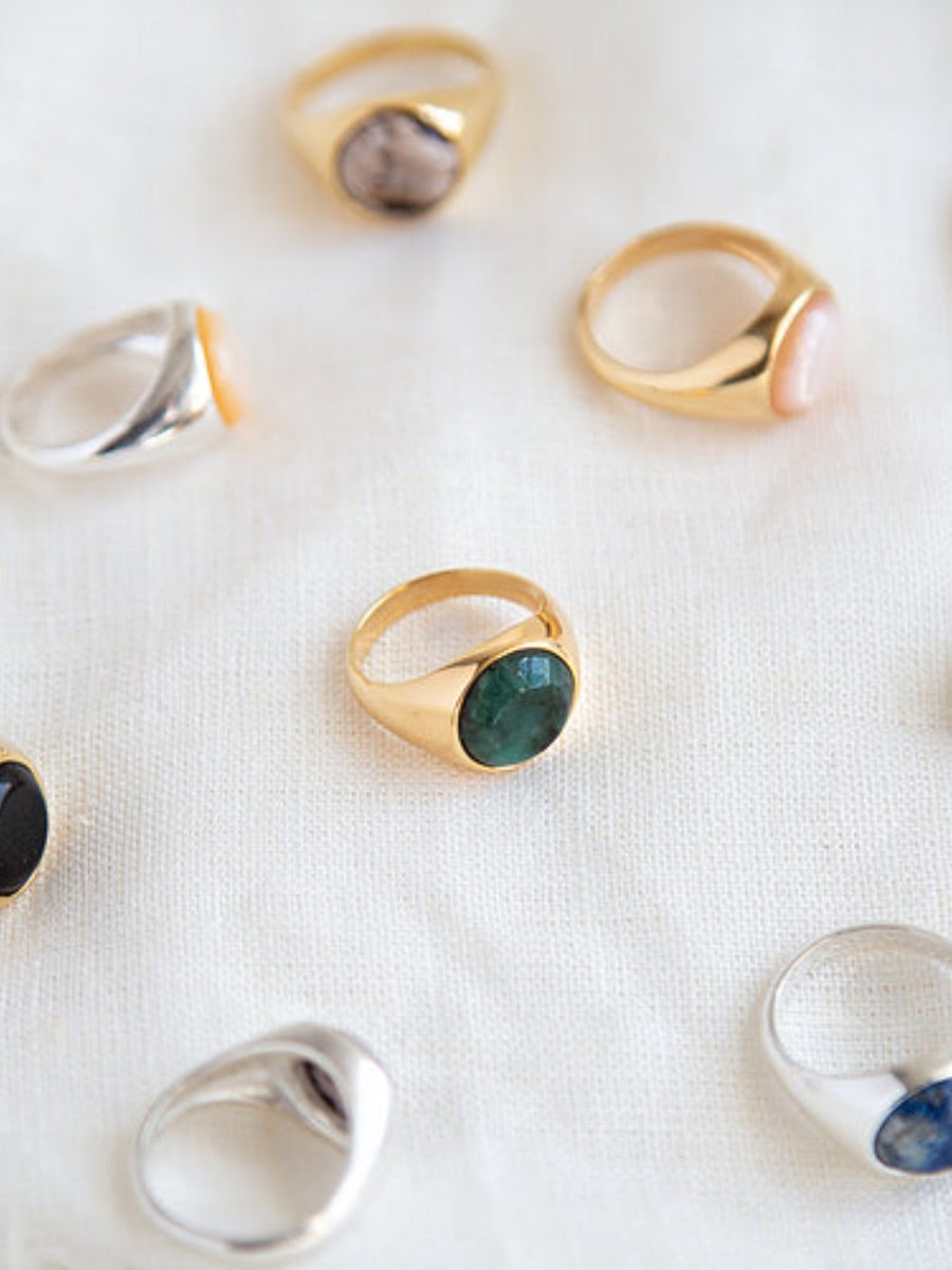 Gold Vermeil or Solid 925 Sterling Silver rings. Jewellery that is both sustainable and cool, ethically made jewellery using recycled materials.  Edit alt text