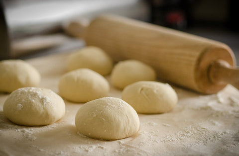 Dough bread and pin dough