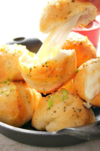Cheesy Rolls in a pan