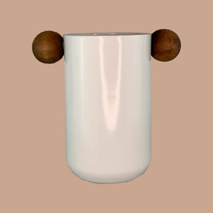 Utensil Holder | Aluminum | Wood Handle