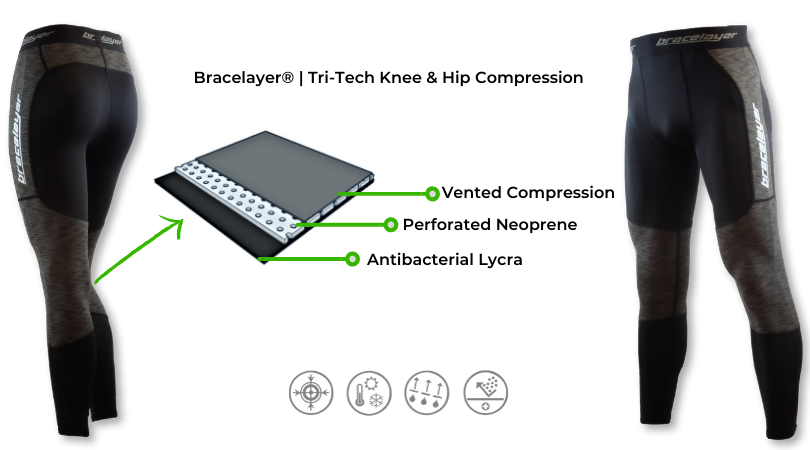 Bracelayer Knee Support Layer with joint stabilizers