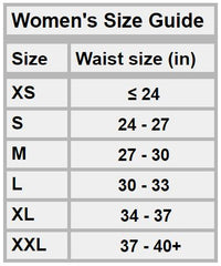 Women's Bracelayer Compression Tights Size Chart