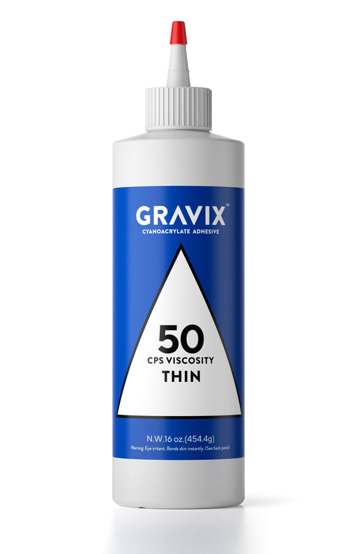 Gravix Pro Line - Super Large 16 OZ (453-gram) Bottle with Protective Cap - Thin 50 CPS Viscosity