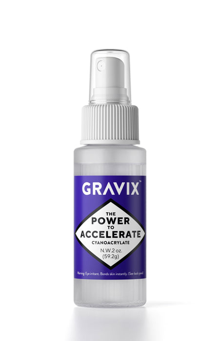 GRAVIX Premium Super Glue Accelerator - 2oz Bottle with Detachable Spray Pump