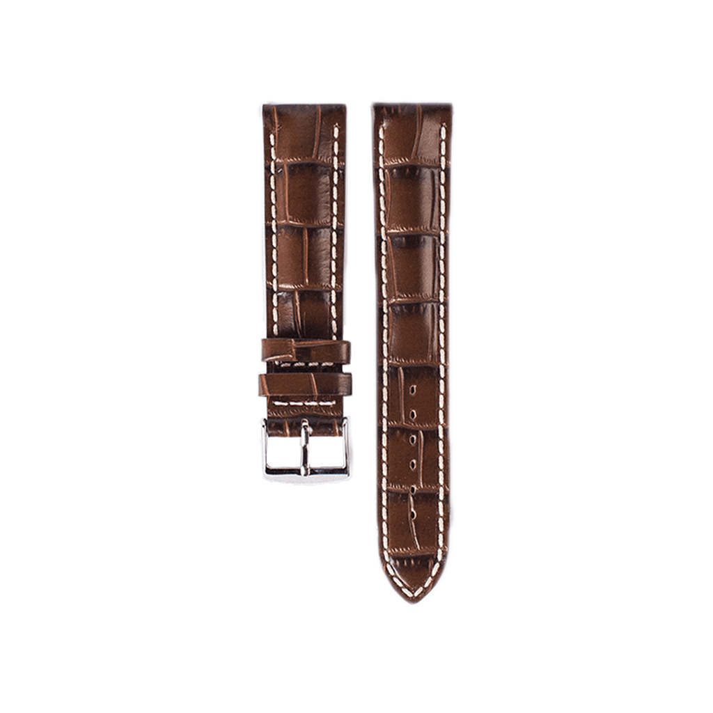 Semi-Padded Cognac Alligator