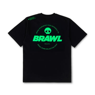 BRAWL STARS NEON LOGO BLACK SHORT SLEEVE T-SHIRT