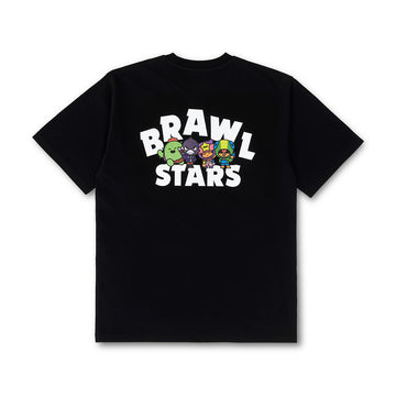 BRAWL STARS LEGENDARY GROUP BLACK SHORT SLEEVE T-SHIRT