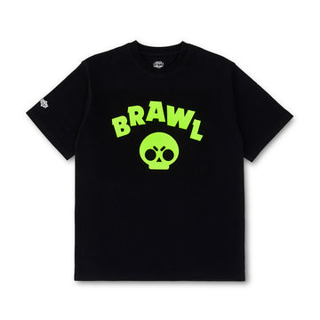 BRAWL STARS NEON SYMBOL BLACK SHORT SLEEVE T-SHIRT