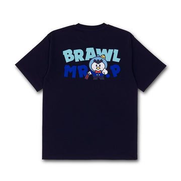 BRAWL STARS MR.P NAVY SHORT SLEEVE T-SHIRT