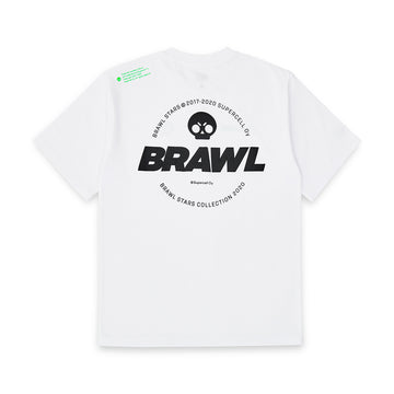BRAWL STARS NEON LOGO WHITE SHORT SLEEVE T-SHIRT