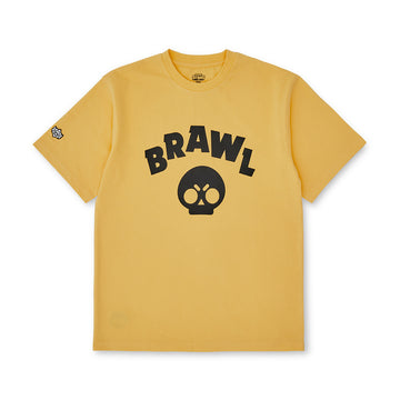 BRAWL STARS BLACK SYMBOL YELLOW SHORT SLEEVE T-SHIRT