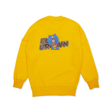 BRAWL STARS ELBROWN YELLOW SWEATSHIRT (XXXS - XS)