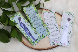 """Pride and Prejudice""  inspired Double Sided Bookmark character SET"
