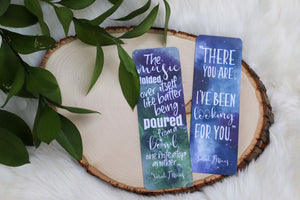 """A Court of Thorns and Roses"" inspired Double Sided Bookmark character SET"