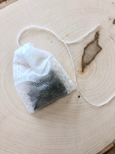 Empty tea bags for your choice of loose leaf tea