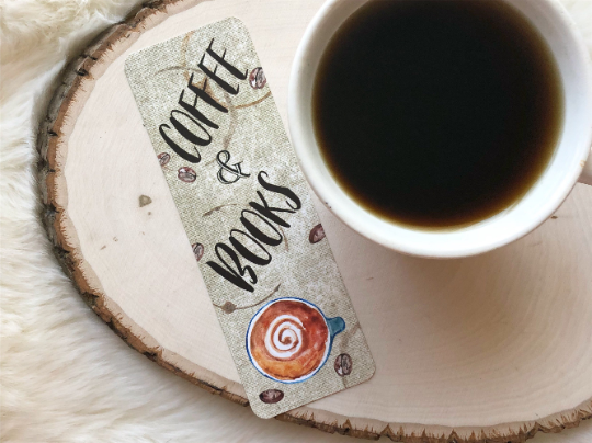 """Coffee and Books"" Double Sided Bookmark"