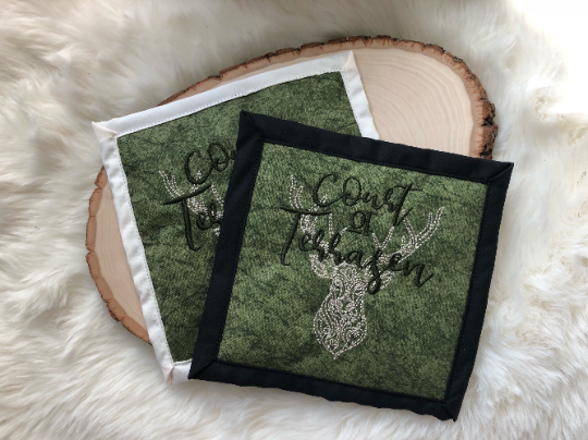 Court of Terrasen, Throne of Glass Embroidered Mug Rug