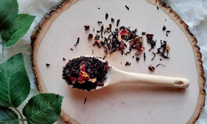 """Le Beau"" -  The Beautiful inspired  - Carmel Rose Black loose leaf tea"