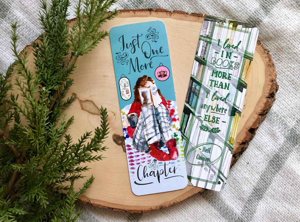 """Just One More Chapter"" Double Sided Bookmark"