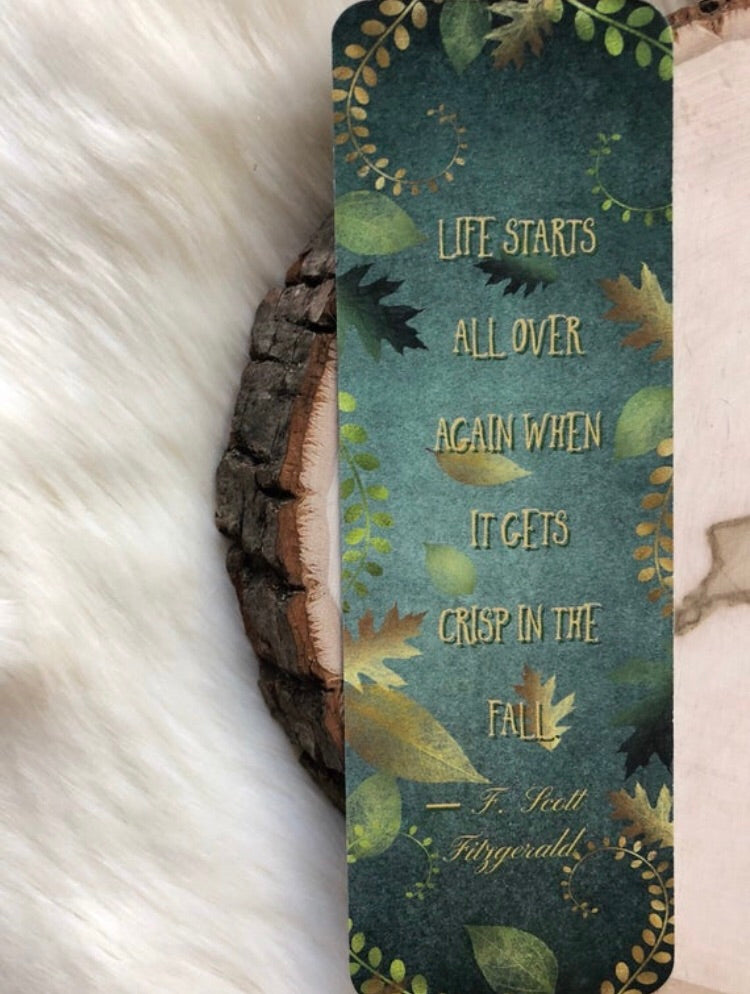 """Autumn Reads"" Double Sided Bookmark"