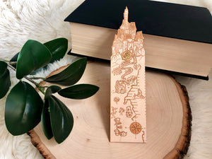 Fairytale Map Engraved Woodmark