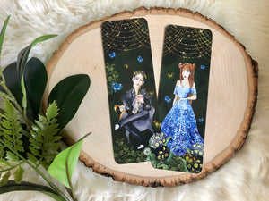 """Folk of the Air"" inspired Double Sided Bookmark character SET"