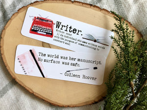 """Writer"" Double Sided Bookmark"