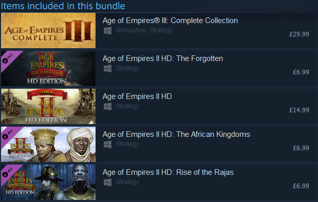 Age of Empires Legacy Bundle (PC) Download | Gamers247