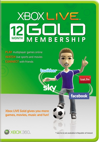 12 Month XBOX Live Worldwide Gold Membership