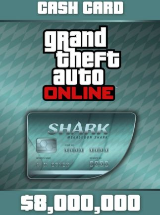 Grand Theft Auto Online: Megalodon Shark Cash Card $8,000,000 (PC)