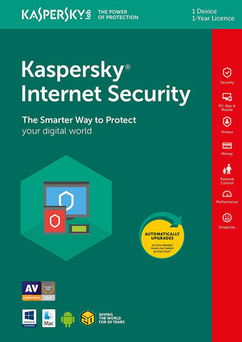 Kaspersky Internet Security 2019 (1Device/1Year) (PC/MAC)