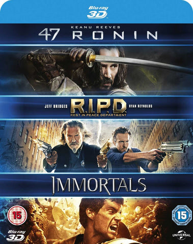 47 Ronin / RIPD / Immortals 3D Movies (Blu-Ray)
