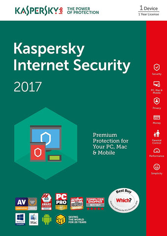 Kaspersky Internet Security 2017 [1PC/1Year] (PC)