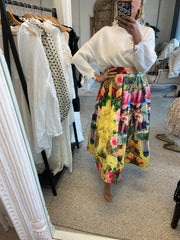 SKIRT (yellow print) M