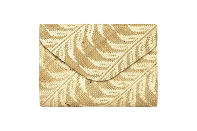Natural Leaf Envelope Clutch