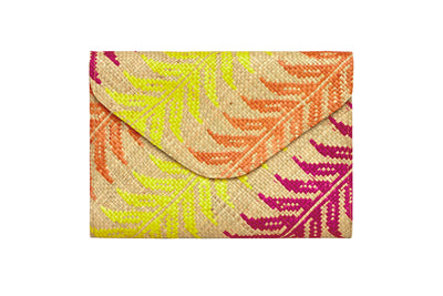Yellow Leaf Envelope Clutch
