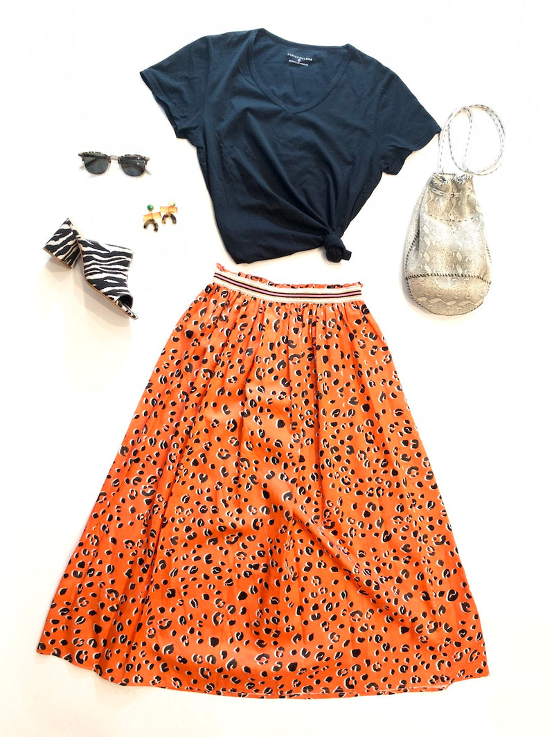 orange and black for summer............