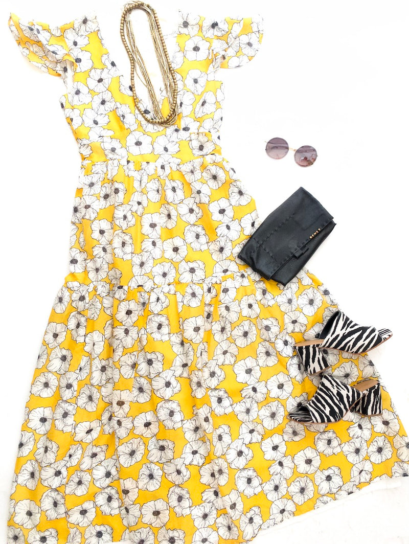 yellow poppy dress....on sale