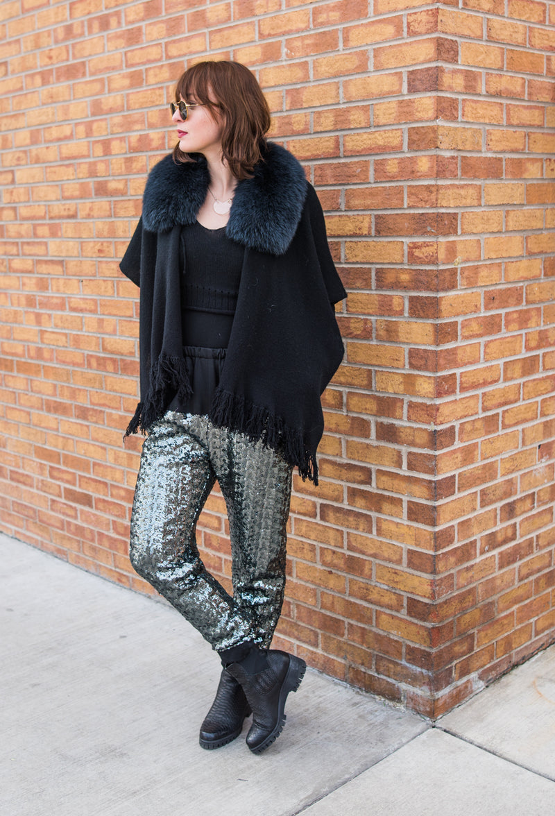 for the holidays....sequin pants....