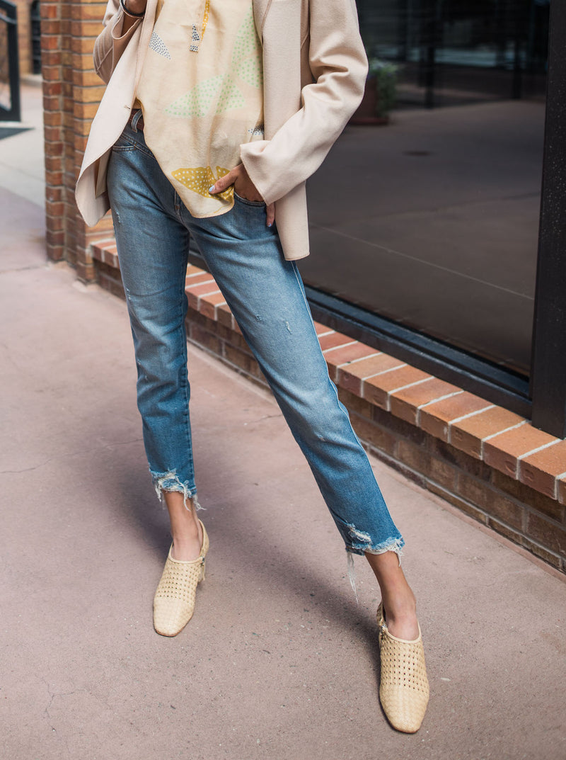 denim with neutrals.....yes, please