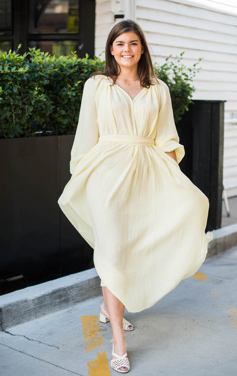 pale lemon summer dress....................