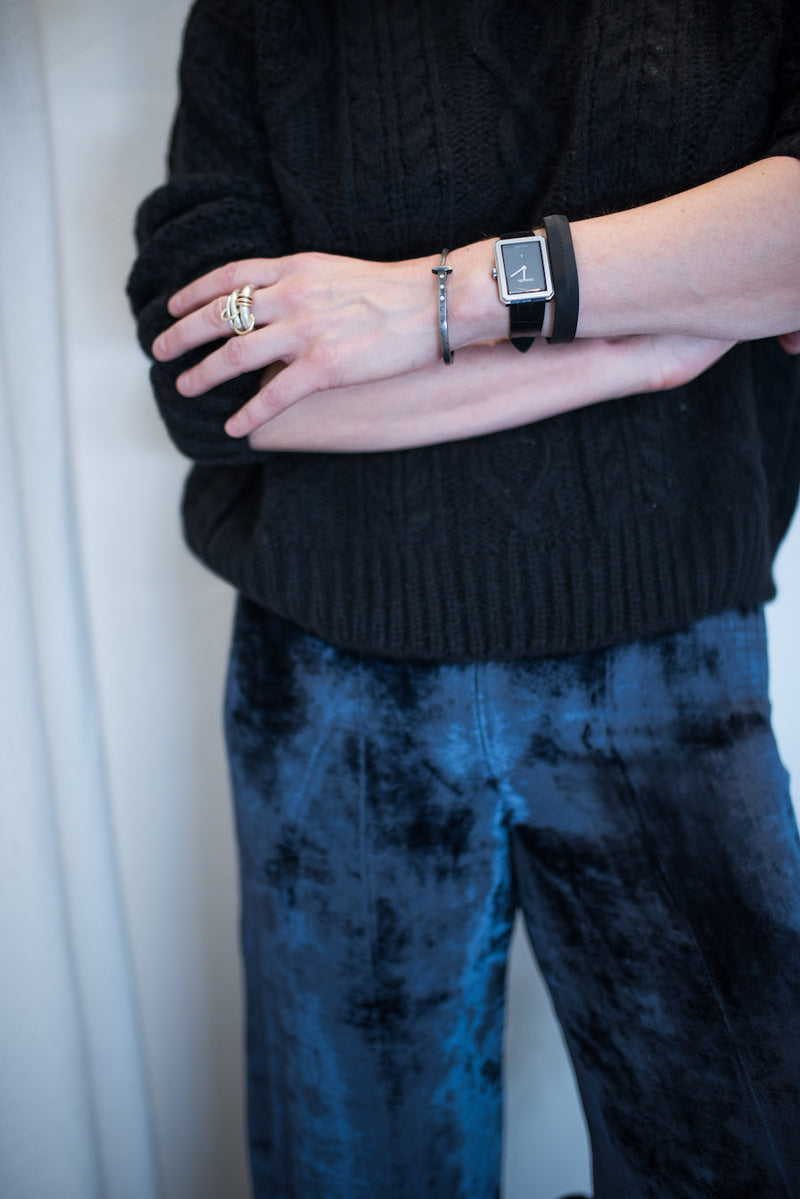 black cashmere and blue velvet........