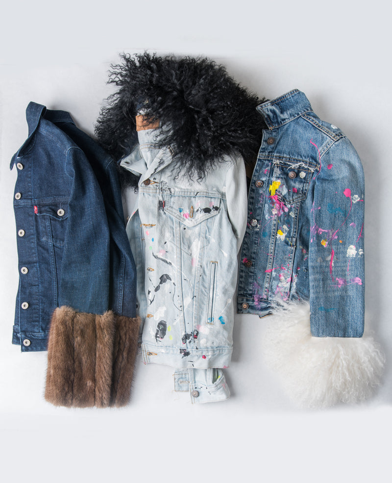 one of a kind denim jacket...styled two ways