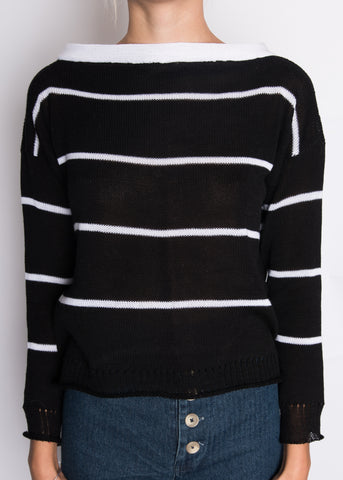 souchi sharon mid weight cotton & cashmere sweater