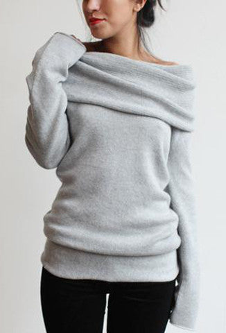 souchi claudia cowl neck sweater