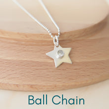Load image into Gallery viewer, star pendant showing Ball Chain option