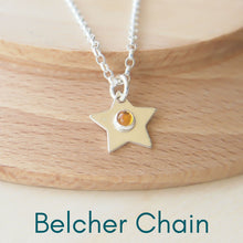 Load image into Gallery viewer, star pendant showing Belcher Chain option