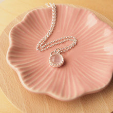Load image into Gallery viewer, Rose Quartz Silver Necklace